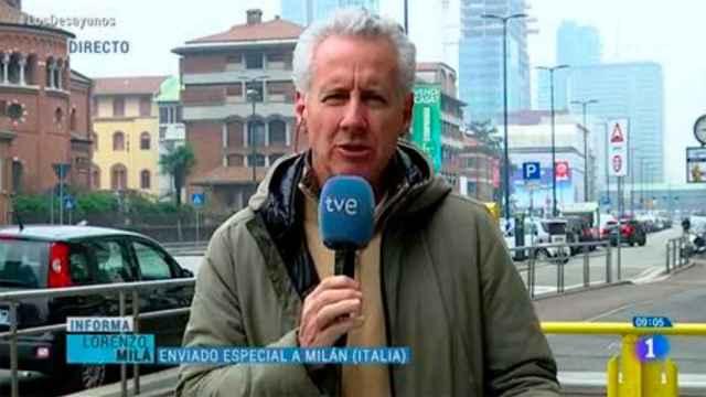 Lorenzo Milá durante la conexión en directo que se hizo viral.