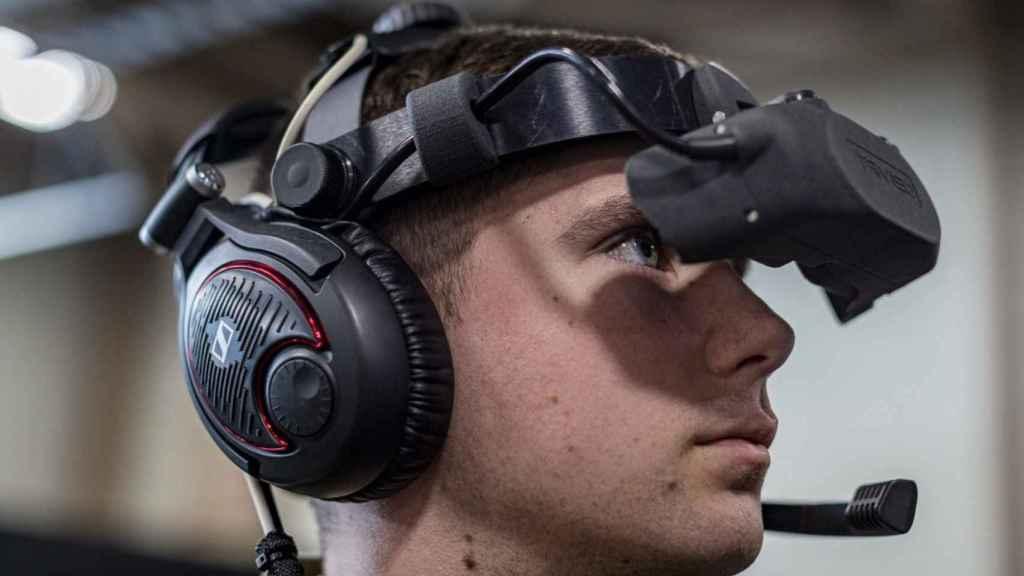 Soldado de EEUU con unas gafas de realidad virtual.