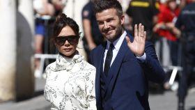 Victoria y David Beckham en la boda de Sergio Ramos y Pilar Rubio en Sevilla.