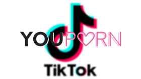 Logotipos de YouPorn y TikTok