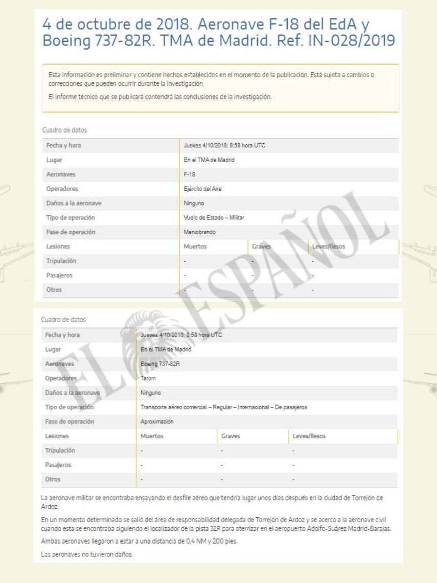 Pantallazo de la página web del Ministerio de Fomento.