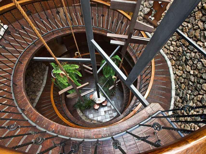 La famosa escalera de caracol de Viñátigo (Tenerife).