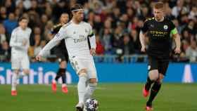 Sergio Ramos y De Bruyne, en el Real Madrid - Manchester City de la Champions League