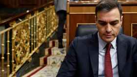 Pedro Sánchez, durante una sesión de control al Gobierno.