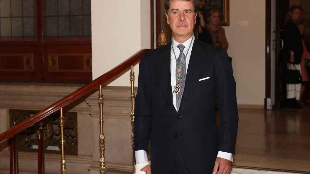 Cayetano Martínez de Irujo, en la entrega de la Medalla de Honor de la Real Academia Nacional de Medicina.