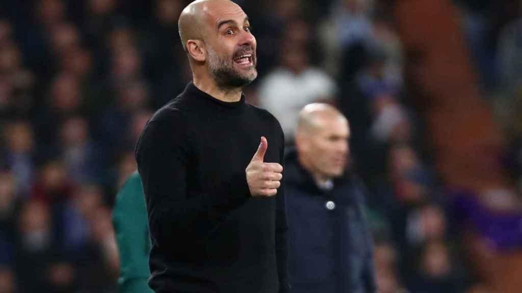Pep Guardiola, con el Manchester City