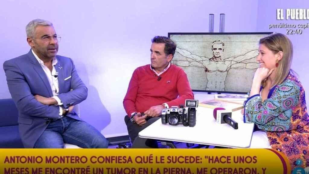 Jorge Javier Vázquez, Antonio Montero y Cristina Soria en 'Sálvame'.