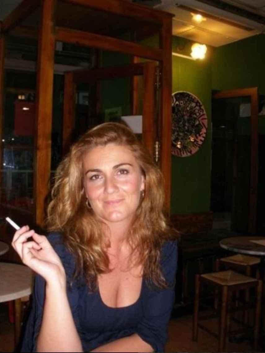 Imagen de Carlota hace diez años, cuando el estrés más afectó a su piel.