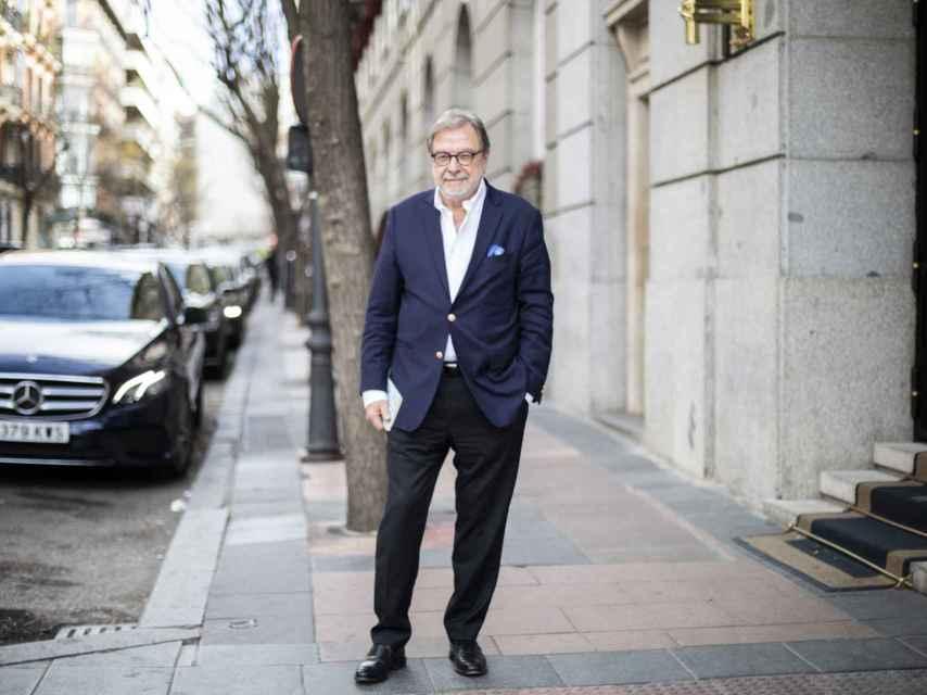 Juan Luis Cebrián, al concluir su entrevista con este periódico.