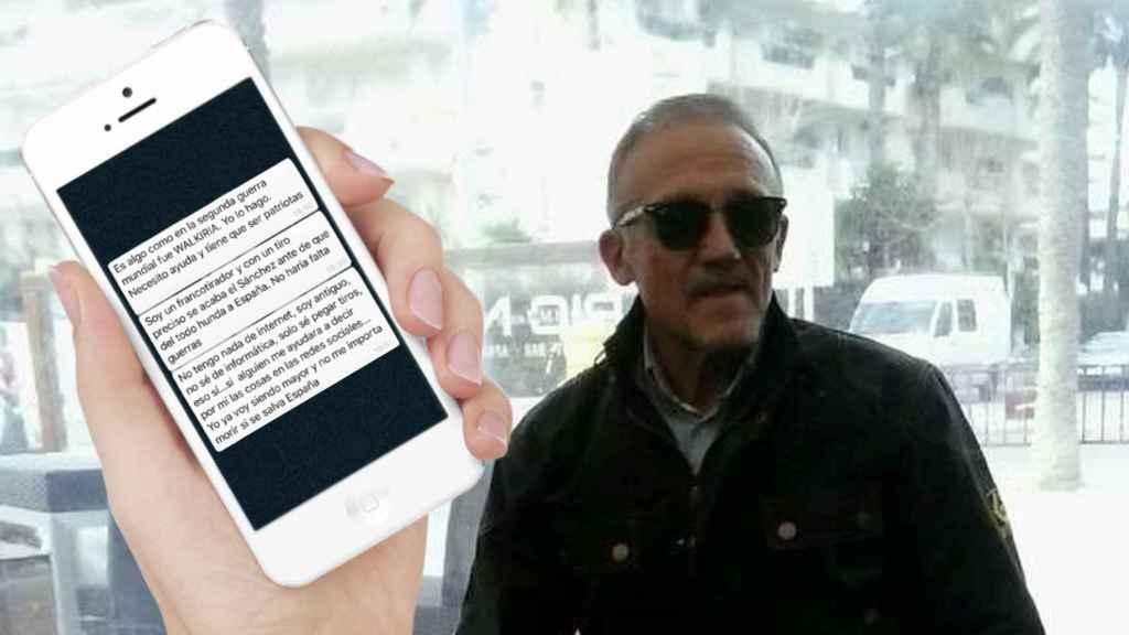 Montaje con los mensajes que, según la Fiscalía, Manuel Murillo envió por WhatsApp.