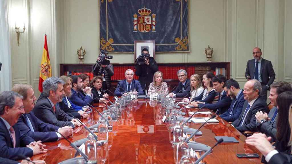 Reunión del ministro Campo con el CGPJ.