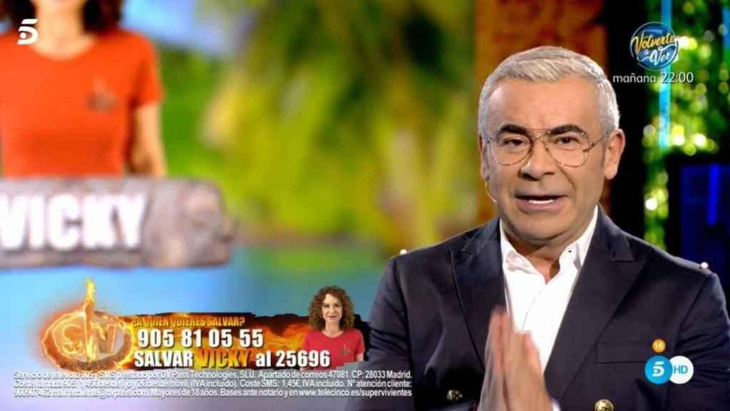 Jorge Javier al inicio de la gala.