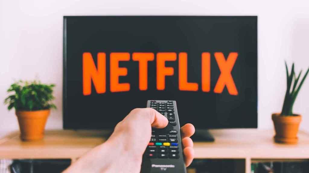 Netflix en un televisor.
