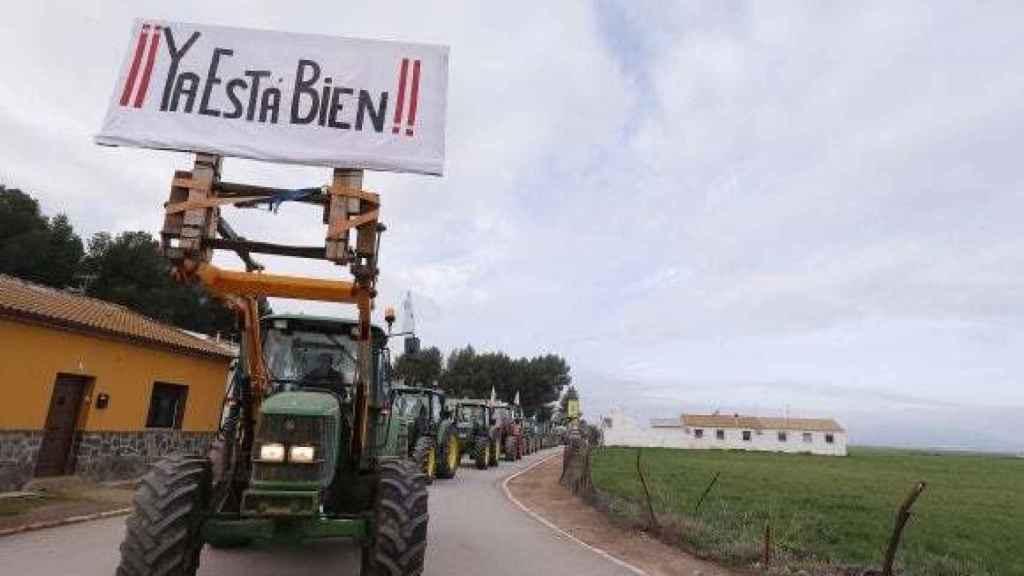 Los agricultores se han manifestado en Andalucía y Extremadura.
