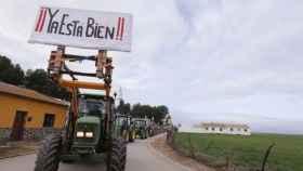 Protestas de agricultores en una imagen de archivo