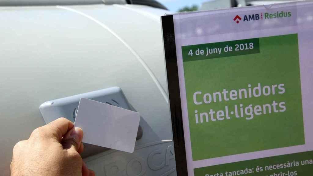 Un contenedor inteligente en el Área Metropolitana de Barcelona.