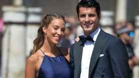 Alice Campello y Álvaro Morata, en una boda.