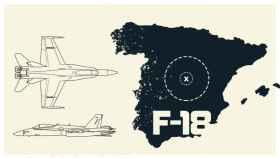 Un F-18 del Ejército y un avión lleno de pasajeros estuvieron a punto de colisionar sobre Torrejón de Ardoz
