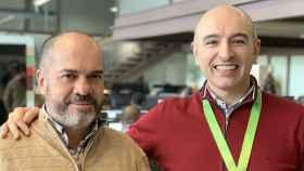 Los dos fundadores de WinDelivery, que tiene sede en Cáceres.