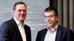 Chuck Robbins, CEO de Cisco, e Iñaki Bernal, director de Tecnología de BBVA