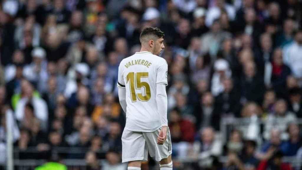 Fede Valverde, en el Santiago Bernabéu