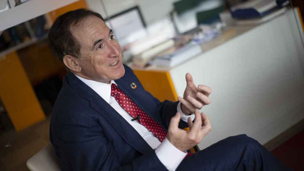 Antonio Huertas, presidente de Mapfre, durante la entrevista con Invertia.