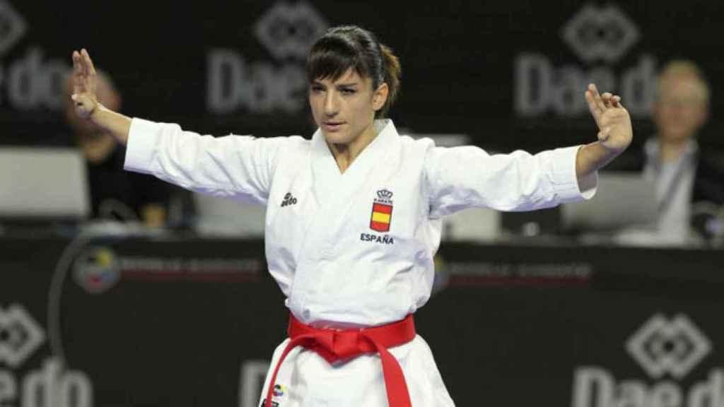 Sandra Sánchez durante un campeonato.