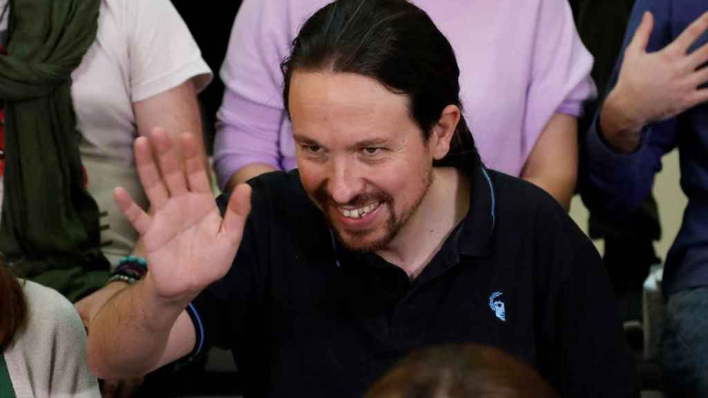 Pablo Iglesias, secretario general de Podemos, en la presentación de su candidatura para renovar en el cargo.