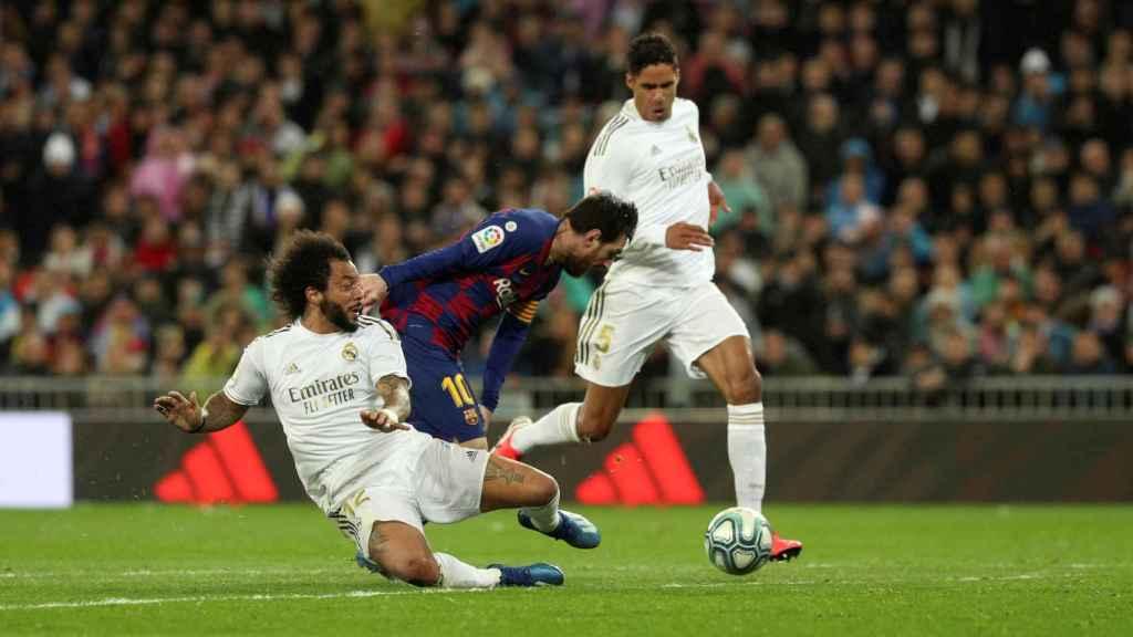 El corte providencial de Marcelo ante Messi