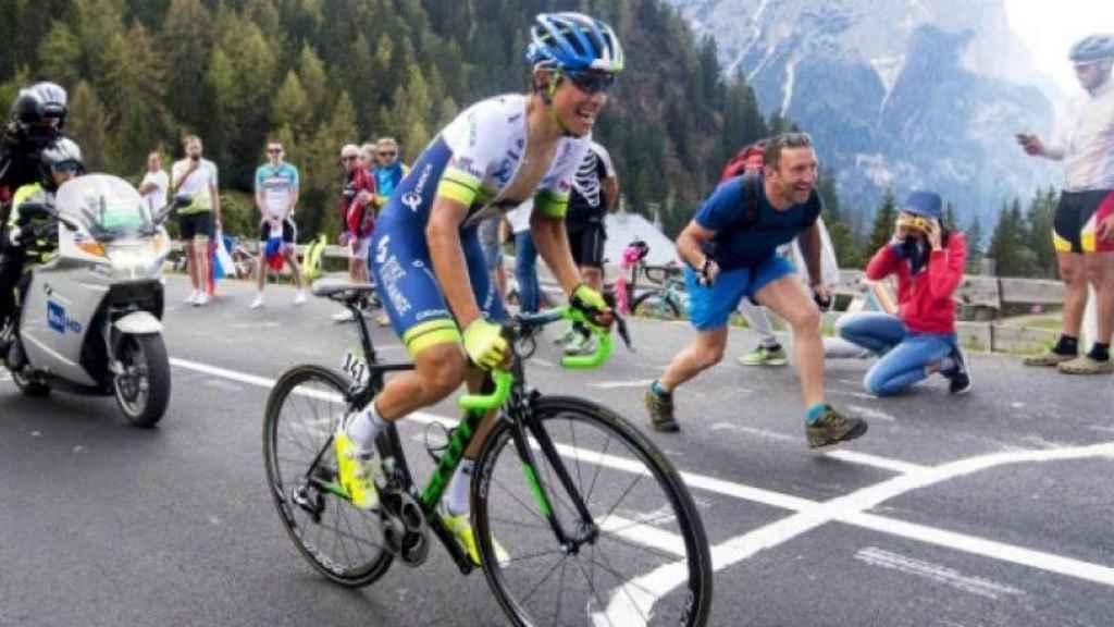 Ciclista durante el Giro de Italia