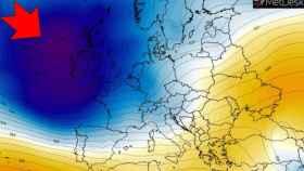 La borrasca atlántica Karine posicionándose de cara al 02/03 en el modelo de severe-weather.eu.