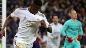 Vinicius Jr celebrando su gol ante el FC Barcelona