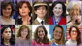 Algunas de las mujeres que más cerca han estado de ocupar puestos donde sólo ha habido hombres.