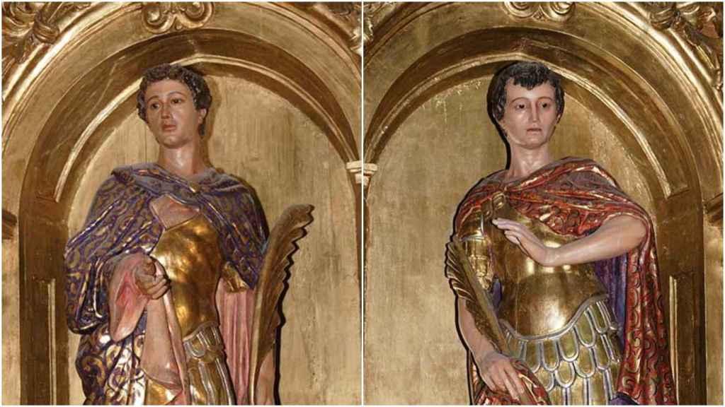 Rostros de San Celedonio y San Emeterio