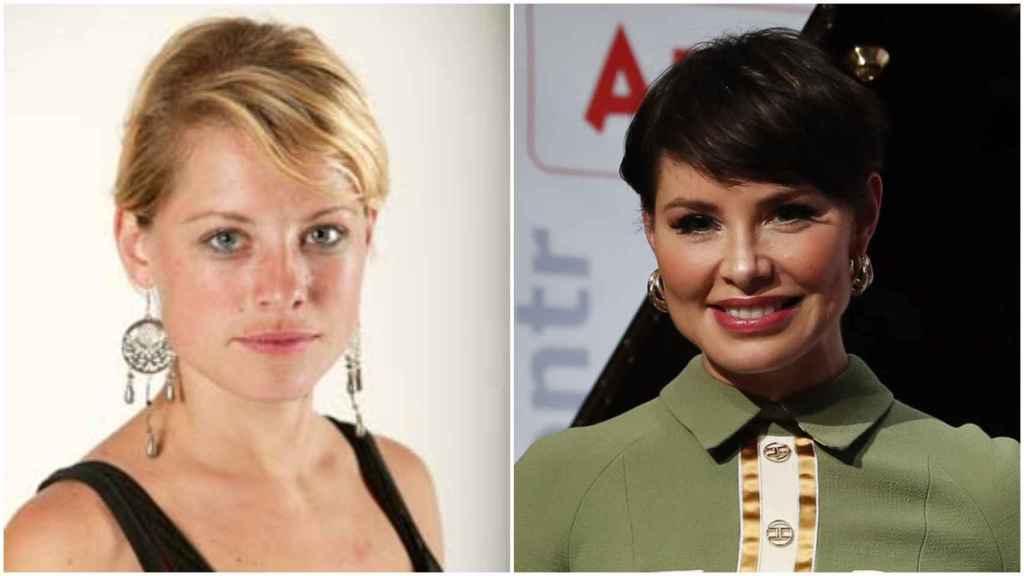 A la izquierda, Soraya en 'OT'. A la derecha, Soraya el pasado mes de enero.