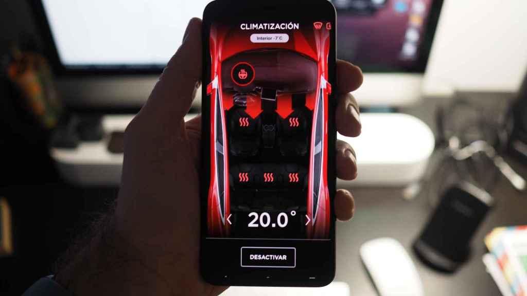 Control de la climatización del Model 3 desde la App de Tesla