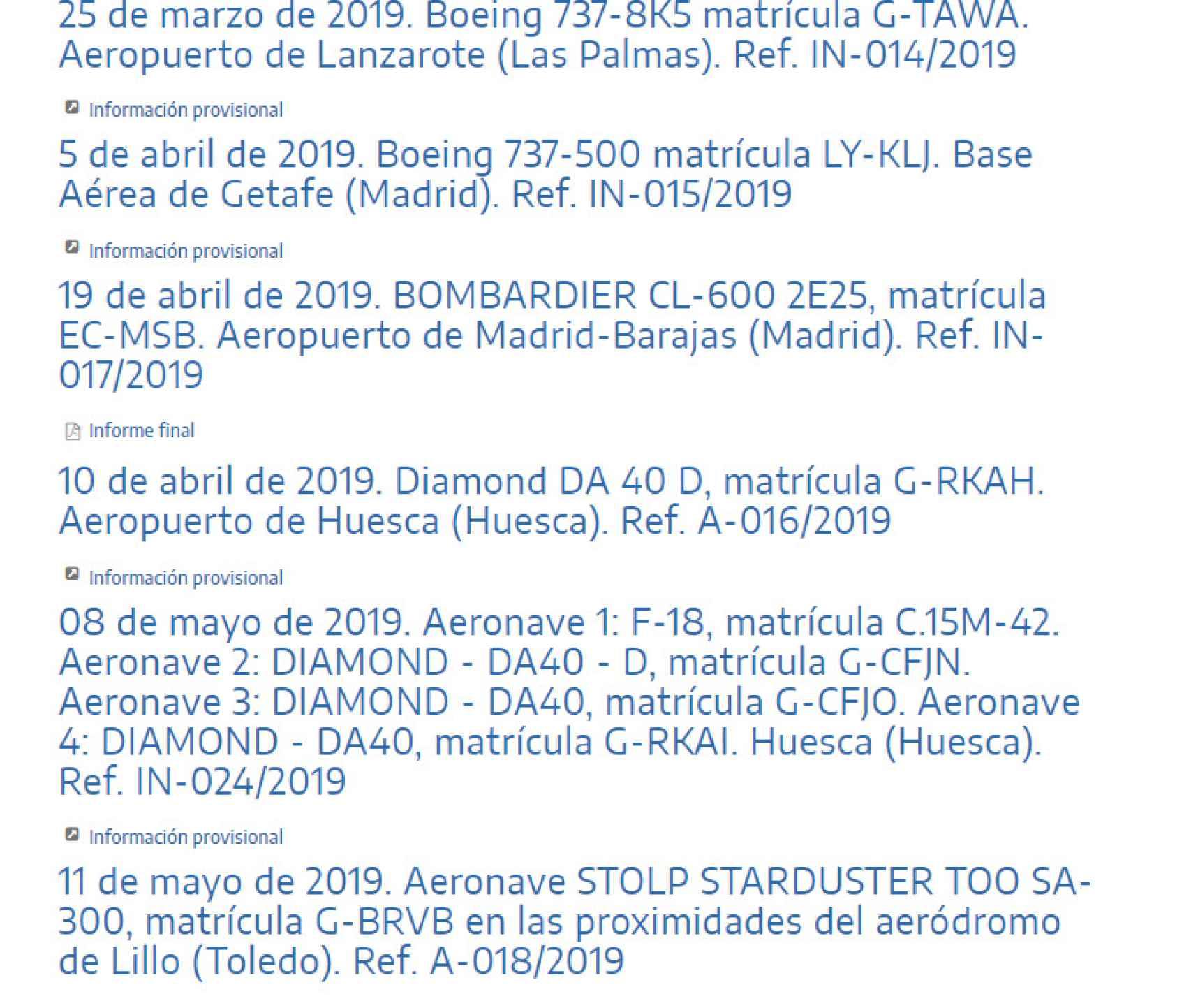 Pantallazo de la web del Ministerio de Fomento.