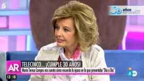 Teresa Campos durante su visita al plató de 'El programa de Ana Rosa'.