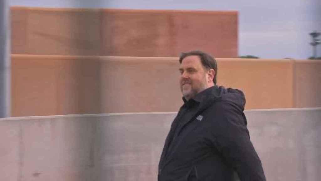 Oriol Junqueras sale de la prisión de Lledoners.