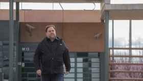 Oriol Junqueras, durante una de sus salidas de la prisión de Lledoners.