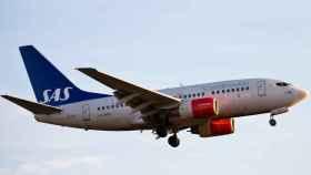 Uno de los aviones de la flota de la aerolínea SAS.