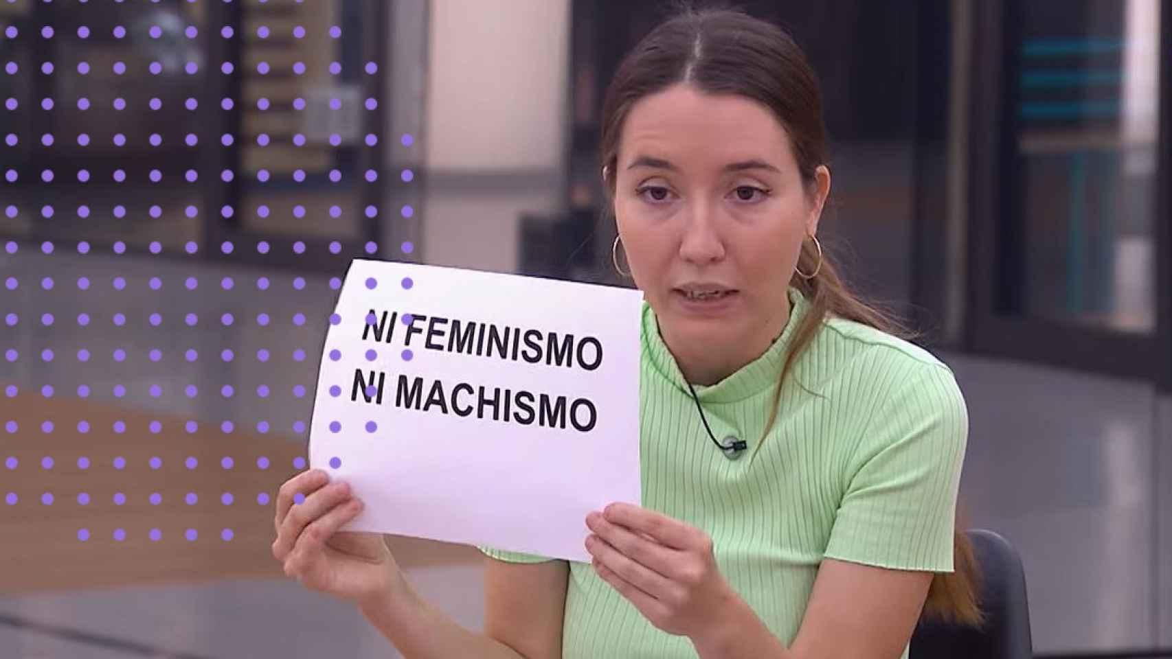 Anna Pacheco, durante la charla en OT.