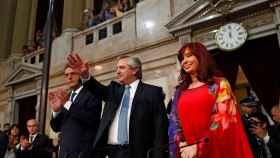 Apertura del año legislativo en Argentina por Alberto Fernández y Cristina Fernández.