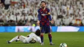 Leo Messi se desespera en El Clásico
