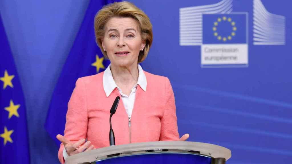 Ursula von der Leyen, durante la presentación de la ley climática
