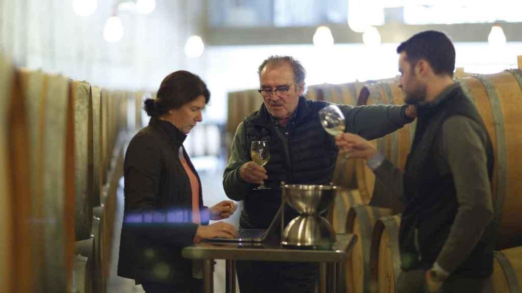 Marta Baquerizo, Didier y Jean Belondrade.