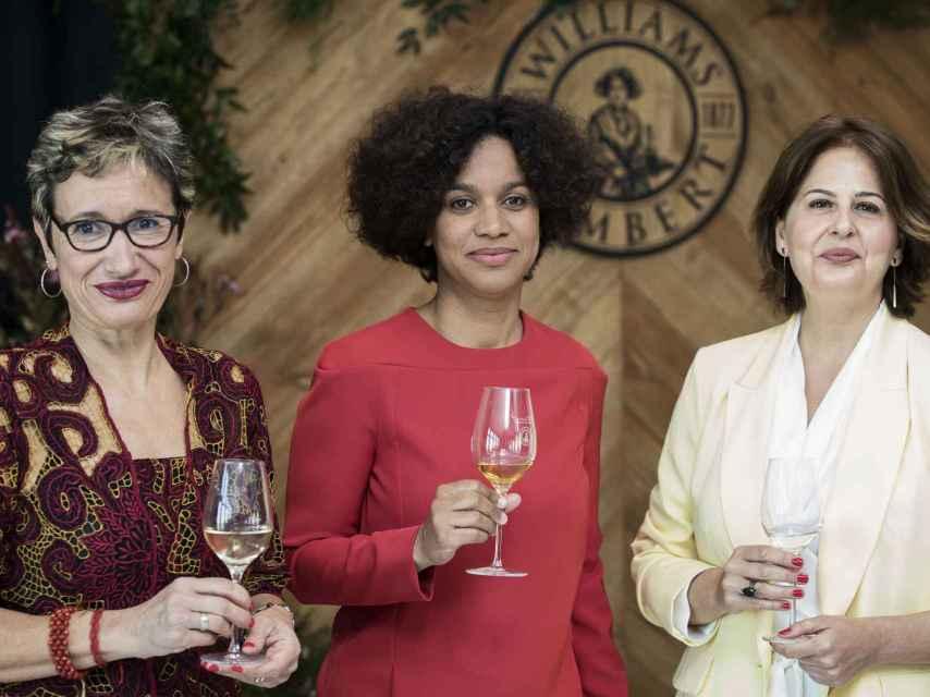 Equipo femenino: Carmen Fandiño, Paola Medina y Cristina Medina.
