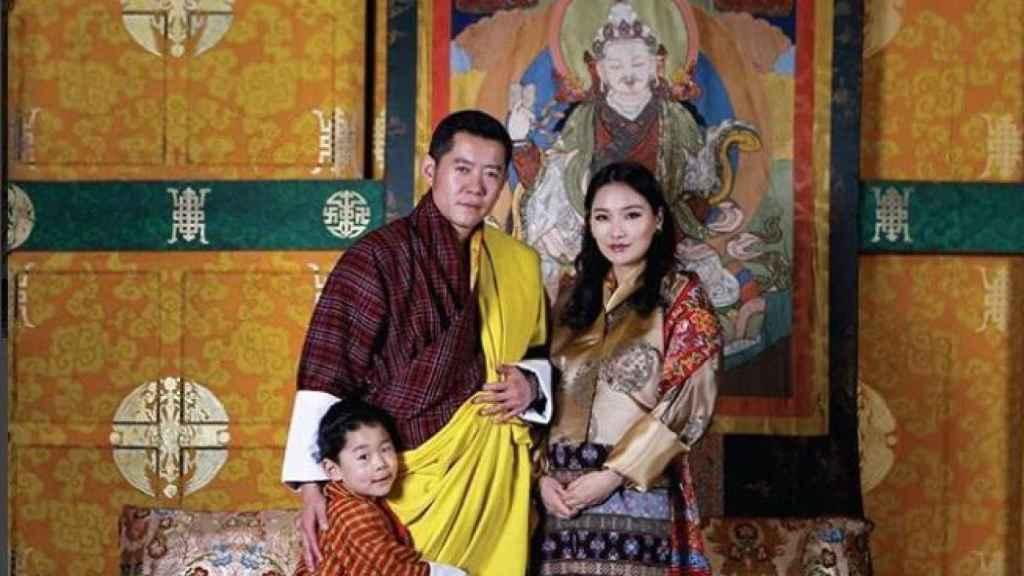 La familia real, en la imagen del calendario.