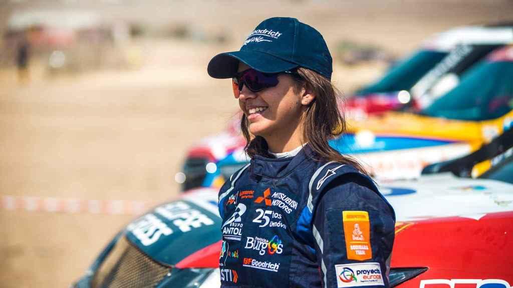 Cristina Gutiérrez durante una prueba del Rally Dakar.