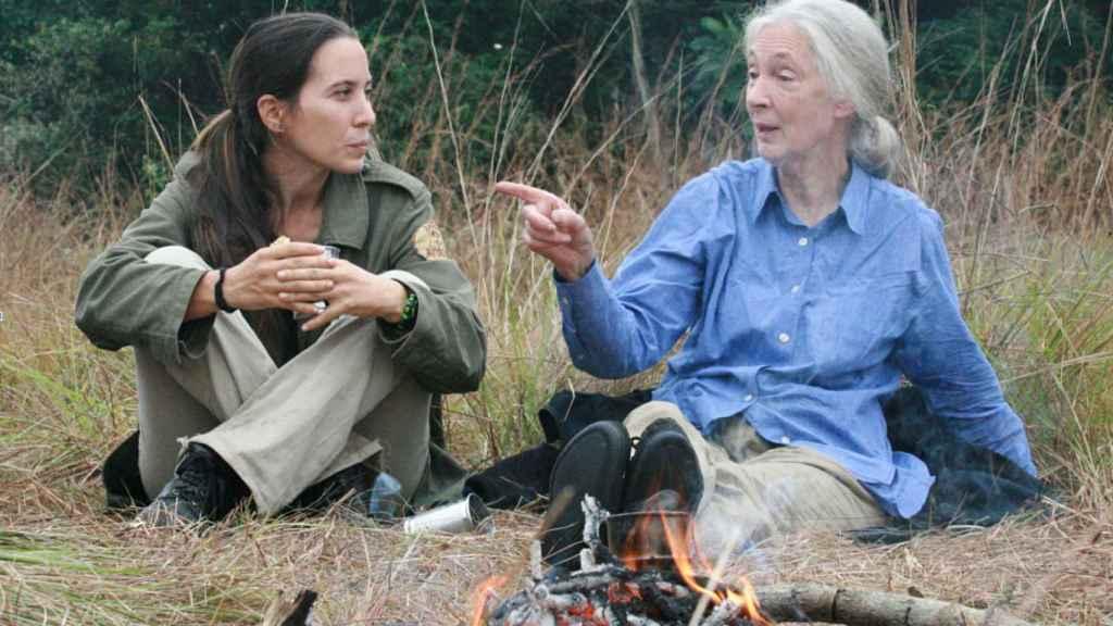 rebeca Atencia y Jane Goodall.